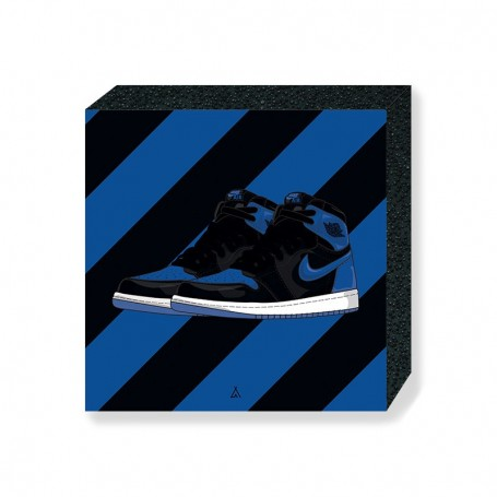 Air Jordan 1 Royal Square Print | La Sneakerie