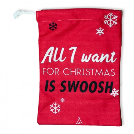 """""""All I want for Christmas is swoosh"""" gift bag 