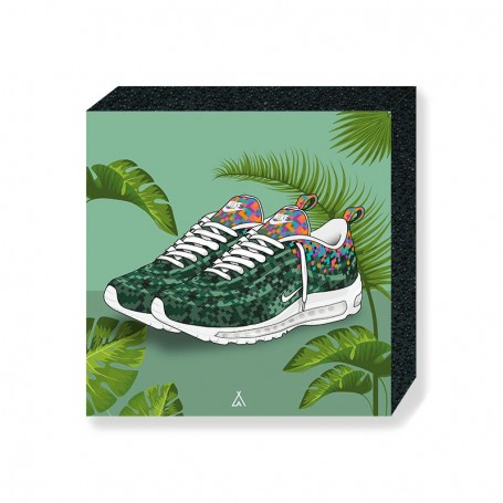 Wandbild Bloc Air Max 97 Rio | La Sneakerie