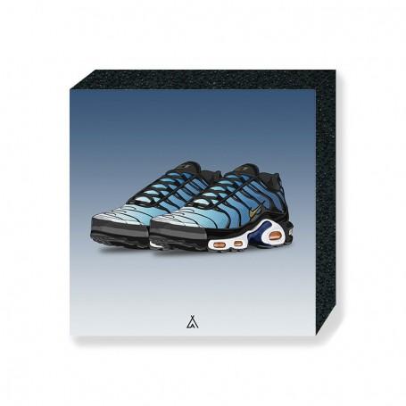 Wandbild Bloc Air Max Plus Hyper Blue | La Sneakerie