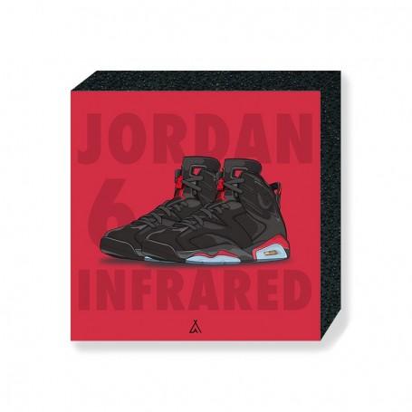 Wandbild Bloc Air Jordan 6 Infrared   La Sneakerie
