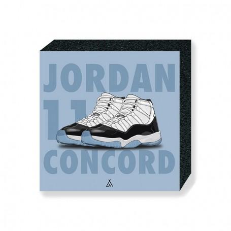 Wandbild Bloc Air Jordan 11 Concord | La Sneakerie