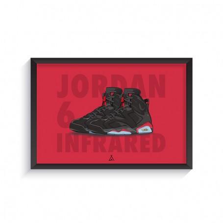 Cadre Air Jordan 6 Infrared | La Sneakerie