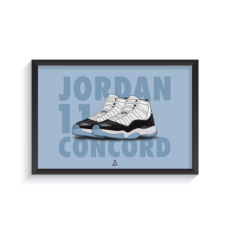 Cadre Air Jordan 11 Concord