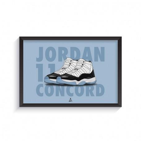 Air Jordan 11 Concord Frame | La Sneakerie