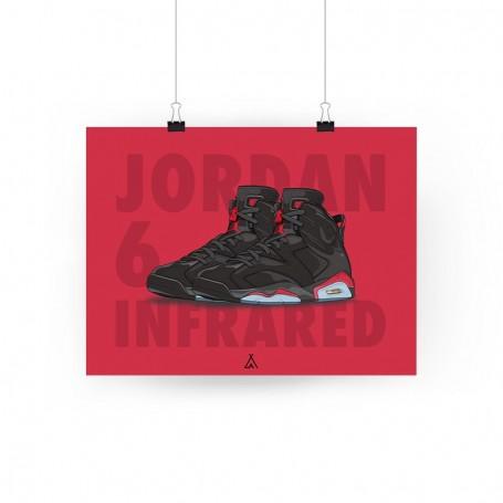 Poster Air Jordan 6 Infrared | La Sneakerie