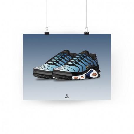 Poster Air Max Plus Hyper Blue | La Sneakerie