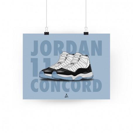 Poster Air Jordan 11 Concord | La Sneakerie