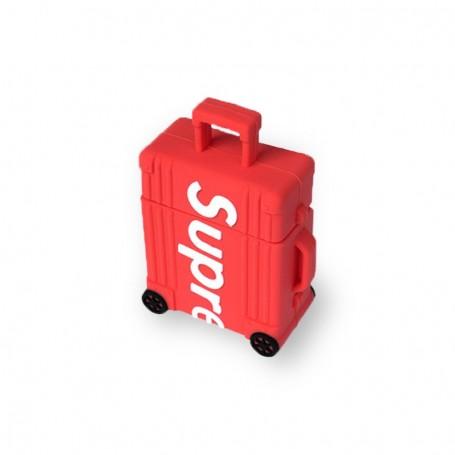 Coque airpods supreme air jordan rouge