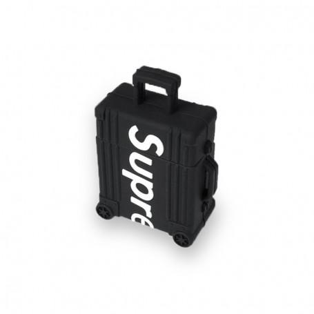 """Supreme """"Suitcase"""" AirPods Case Black   La Sneakerie"""