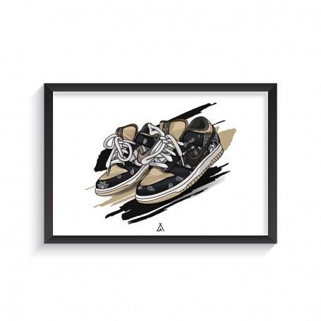 SB Dunk Low Travis Scott Frame | La Sneakerie