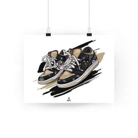 SB Dunk Low Travis Scott Poster | La Sneakerie