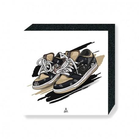 Wandbild Bloc SB Dunk Low Travis Scott | La Sneakerie