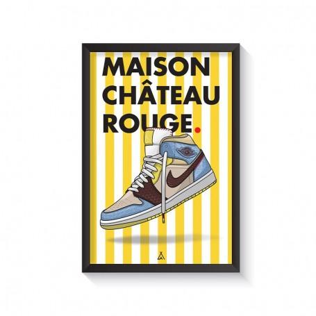 Rahmen Air Jordan 1 x Maison Château Rouge | La Sneakerie