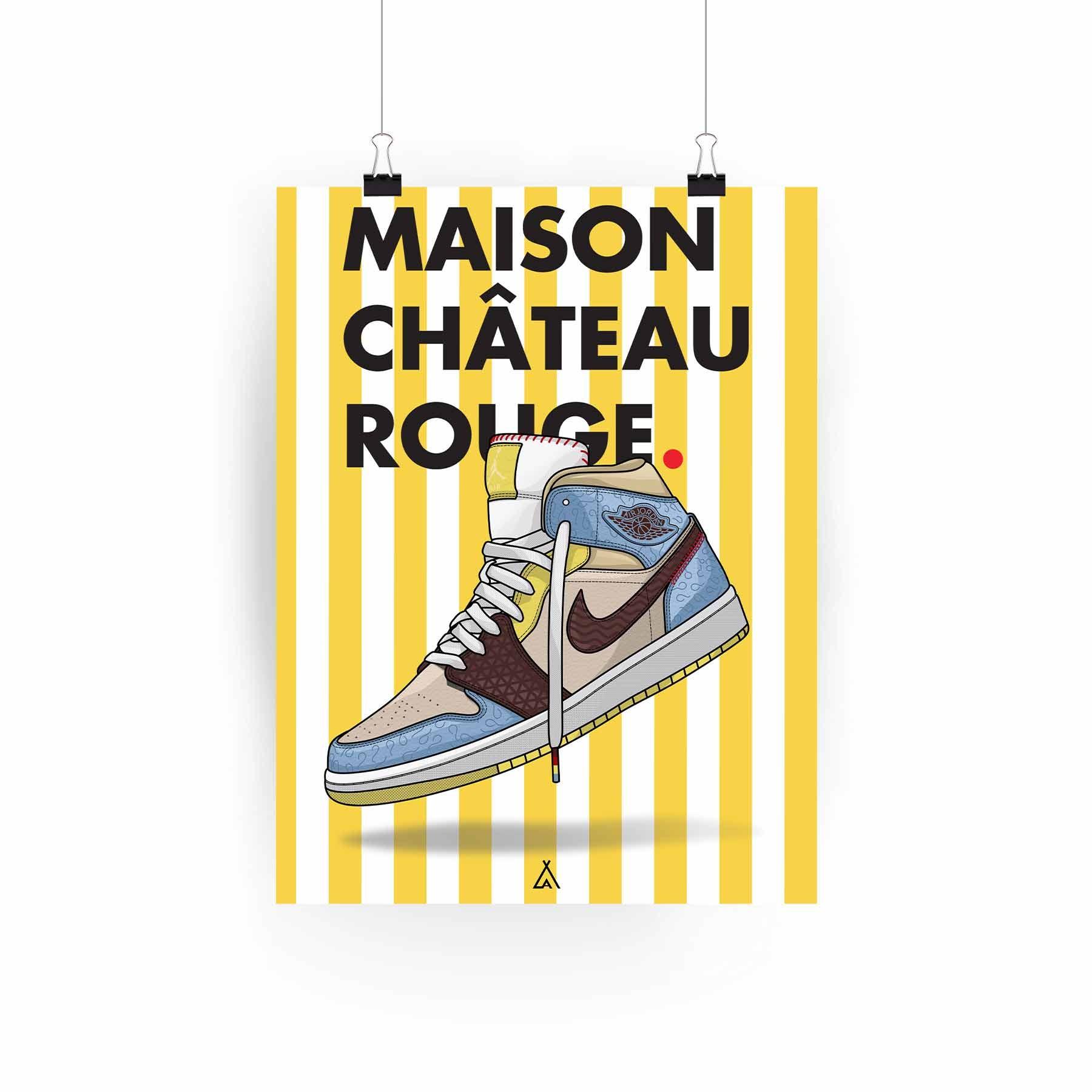 Air Jordan 1 x Maison Château Rouge Poster
