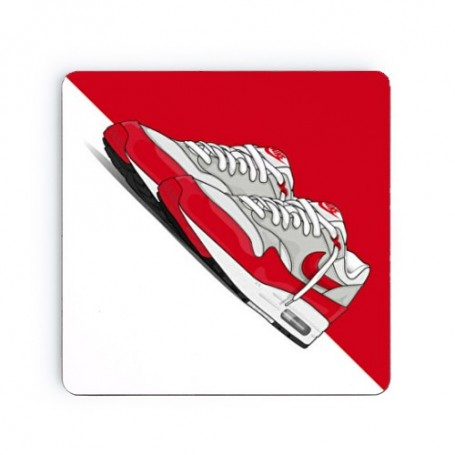Dessous de verre carré Air Max 1 OG Red | La Sneakerie