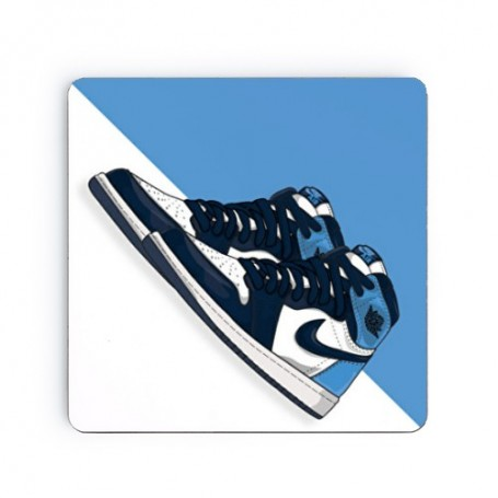 Dessous de verre carré Air Jordan 1 UNC Obsidian | La Sneakerie