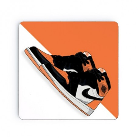 Air Jordan 1 Shattered Backboard Square Coaster | La Sneakerie