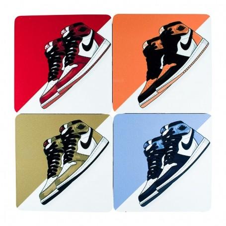 Pack Dessous de verre carrés Air Jordan 1 x4 | La Sneakerie