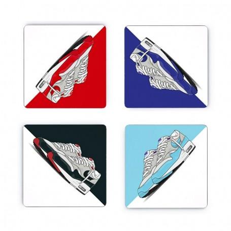 Pack Dessous de verre carrés Air Max 1 x4 | La Sneakerie