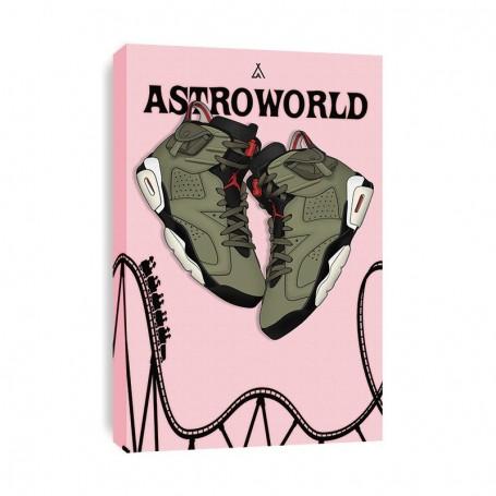 Air Jordan 6 x Travis Scott Canvas Print | La Sneakerie