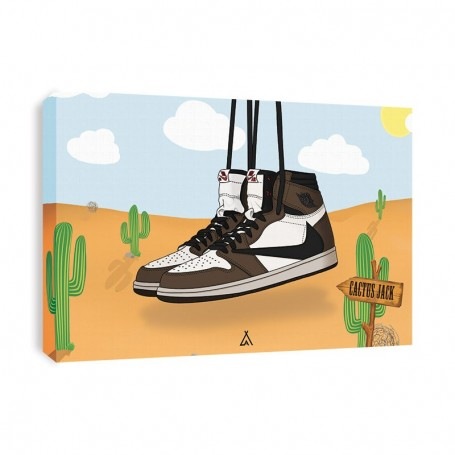 Air Jordan 1 x Travis Scott Canvas Print | La Sneakerie