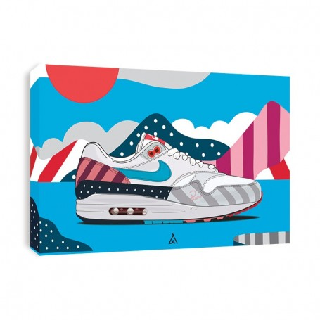 Air Max 1 Parra Canvas Print | La Sneakerie