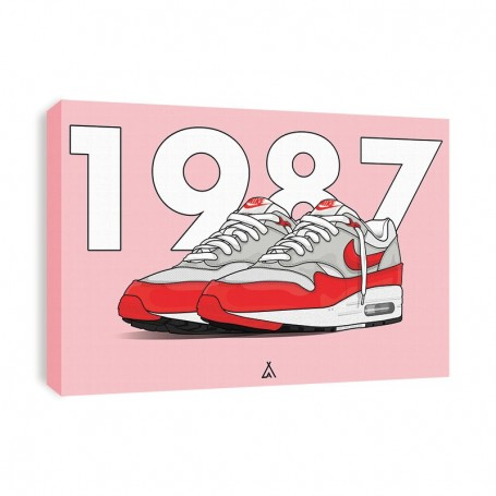 Air Max 1 OG Red Canvas Print | La Sneakerie