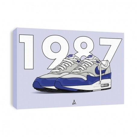 Air Max 1 OG Blue Canvas Print | La Sneakerie