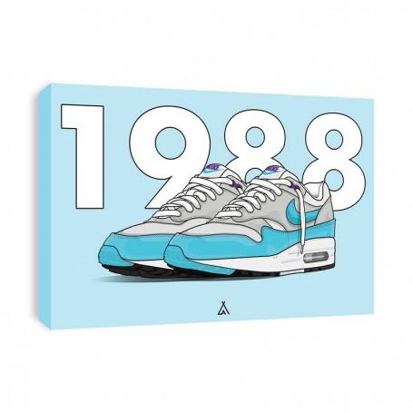 Air Max 1 Aqua Canvas Print   La Sneakerie