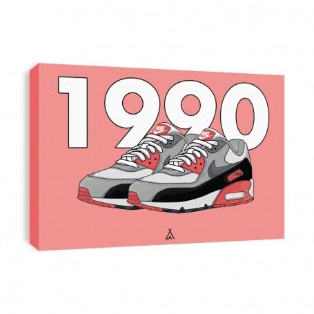 Air Max 90 Infrared Canvas Print | La Sneakerie