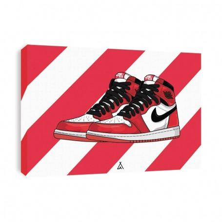 Air Jordan 1 Chicago Canvas Print | La Sneakerie