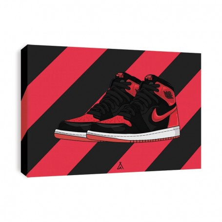 Air Jordan 1 Banned Canvas Print | La Sneakerie