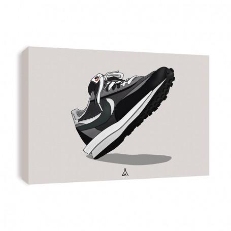 Sacai LD Waffle Black Canvas Print   La Sneakerie