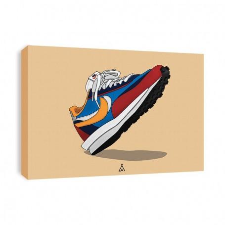 Sacai LD Waffle Blue Multi Canvas Print | La Sneakerie