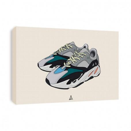 Yeezy Boost 700 Wave Runner Canvas Print | La Sneakerie