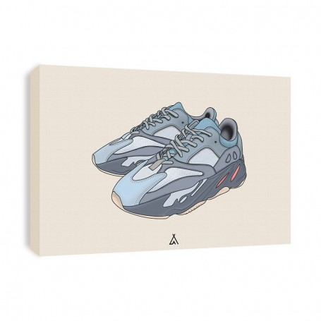 Yeezy Boost 700 Inertia Canvas Print   La Sneakerie