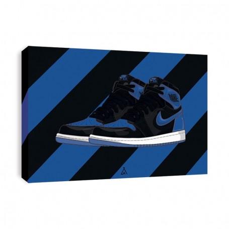 Air Jordan 1 Royal Canvas Print   La Sneakerie