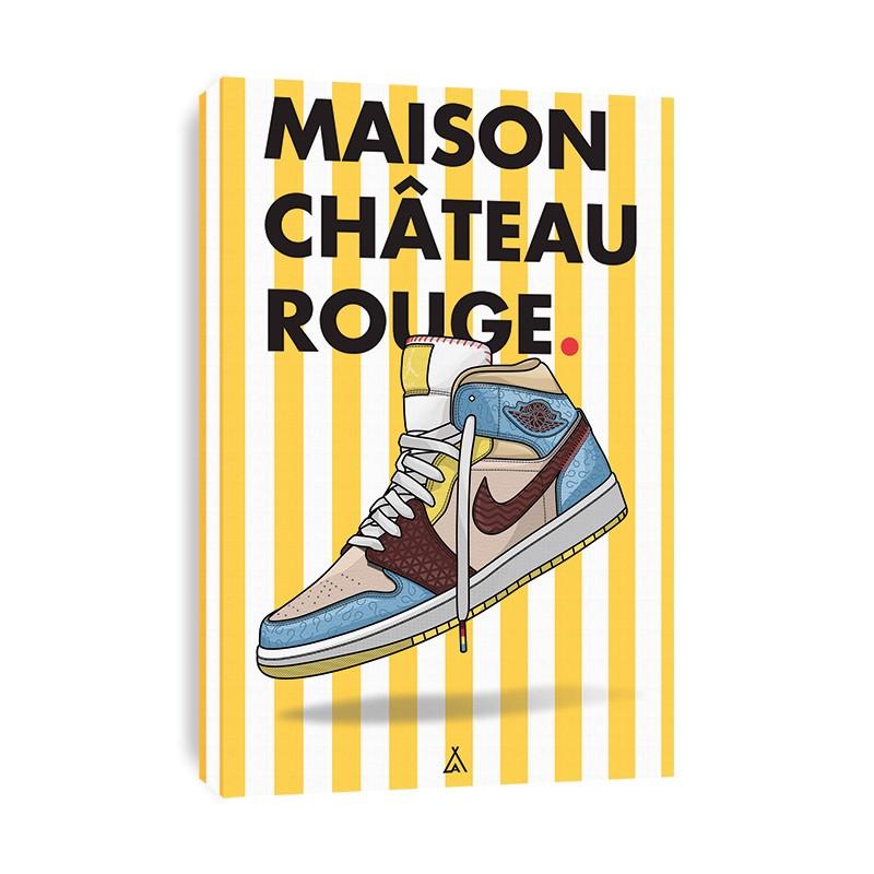 Tableau Air Jordan 1 x Maison Château Rouge