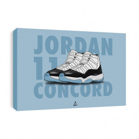 Air Jordan 11 Concord Canvas Print | La Sneakerie