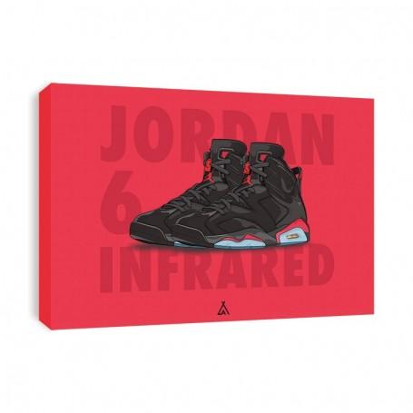Air Jordan 6 Infrared Canvas Print   La Sneakerie