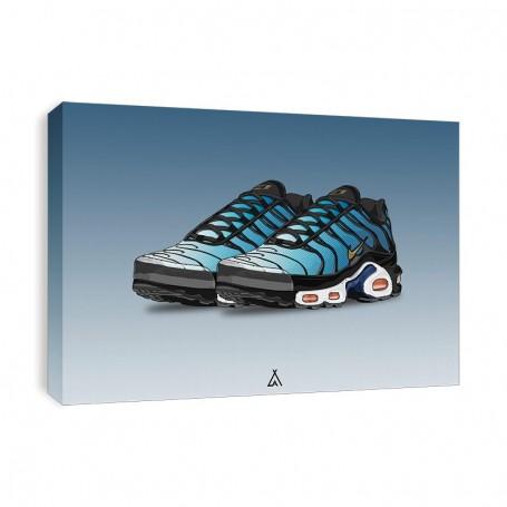 Air Max Plus Hyper Blue Canvas Print | La Sneakerie