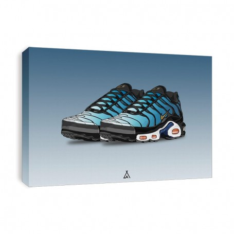 Leinwand Air Max Plus Hyper Blue   La Sneakerie