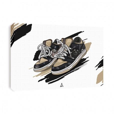 Leinwand Dunk Low Travis Scott | La Sneakerie