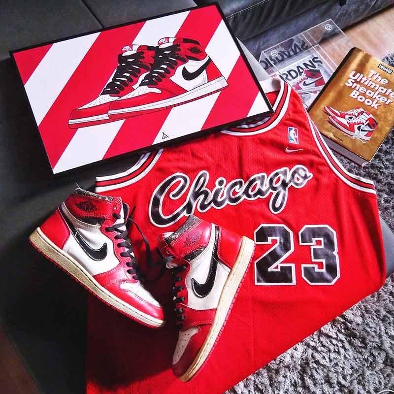 Cadre Air Jordan 1 Chicago