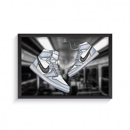 Rahmen Air Jordan 1 x Dior | La Sneakerie