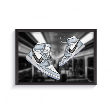 Rahmen Air Jordan 1 x Dior   La Sneakerie