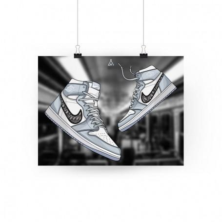 Air Jordan 1 x Dior Poster | La Sneakerie
