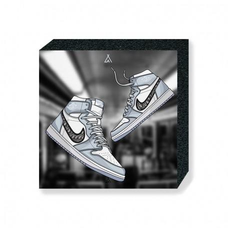 Air Jordan 1 x Dior Square Print   La Sneakerie