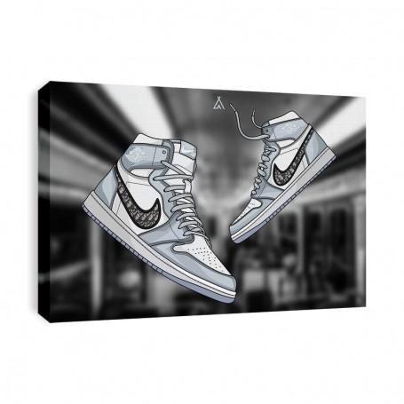 Air Jordan 1 x Dior Canvas Print | La Sneakerie